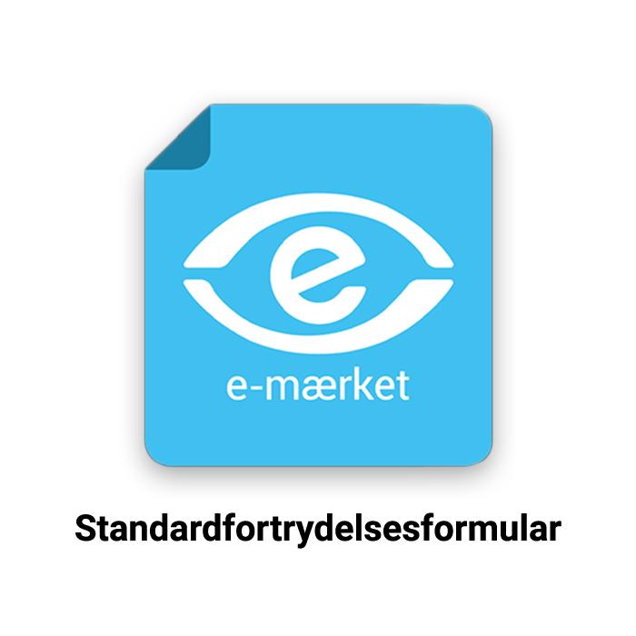 e-mærkets standardfortrydelsesformular